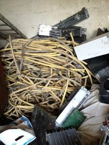 Das Bild zeigt Schrotthandel mit Kabelschrott